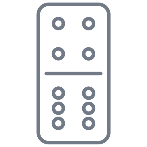 Domino dice four six stroke Transparent PNG