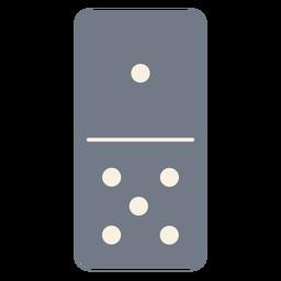 Domino dados uno cinco silueta