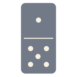Domino dice one five silhouette
