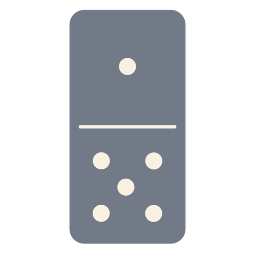 Domino dice one five silhouette Transparent PNG