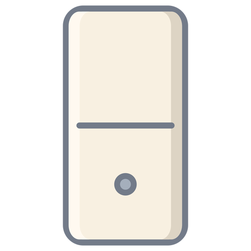 Domino Dice One Flat Transparent PNG