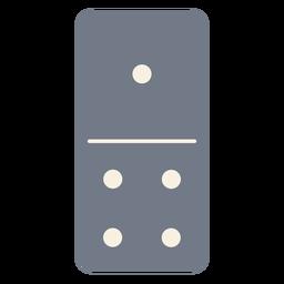 Domino dados uno cuatro silueta