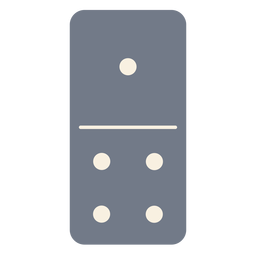 Domino dice one four silhouette