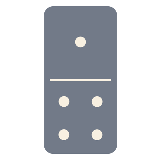 Domino dice one four silhouette Transparent PNG