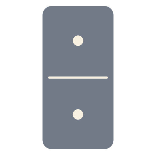 Domino dice one silhouette Transparent PNG