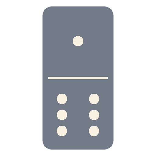 Domino dice one six silhouette Transparent PNG