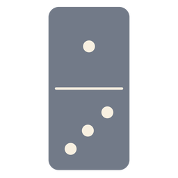 Domino dice one three silhouette