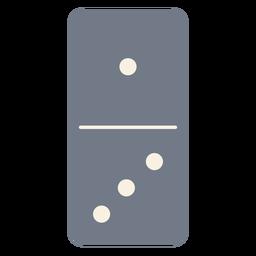 Domino dice uma silhueta de três