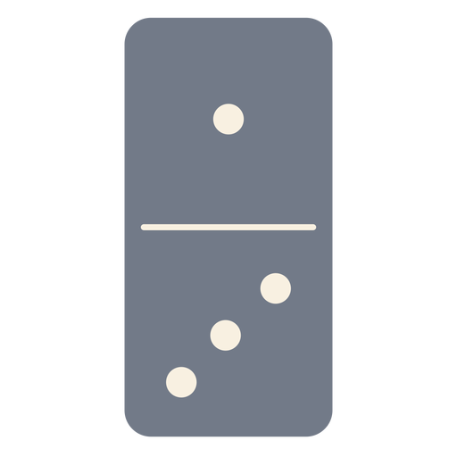 Domino dice one three silhouette Transparent PNG