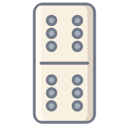 Domino dados seis planos