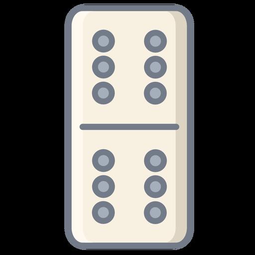 Dados de dominó seis planos