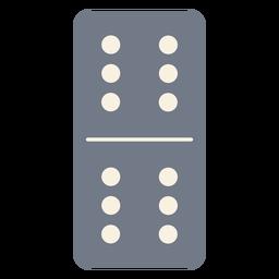 Domino dados seis silueta
