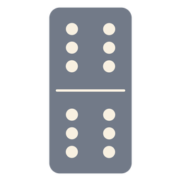 Domino dice six silhouette