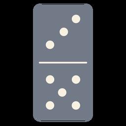 Domino dados tres cinco silueta