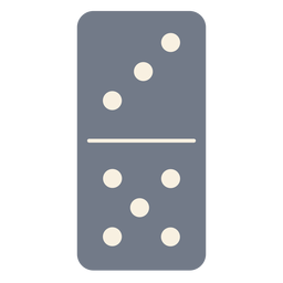 Domino dice three five silhouette