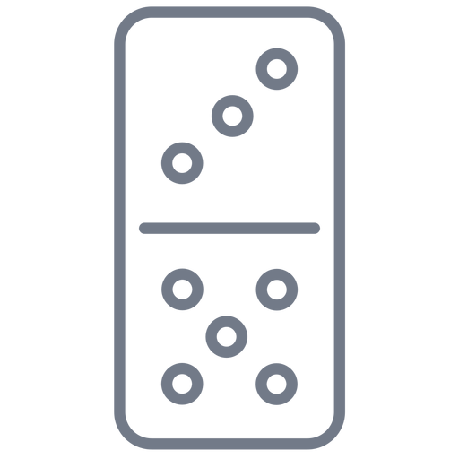 Domino dice three five stroke Transparent PNG