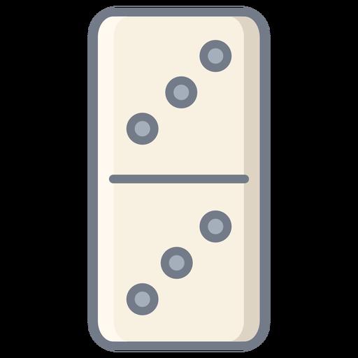 Domino dice three flat Transparent PNG