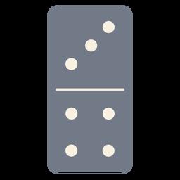Domino dados tres cuatro silueta