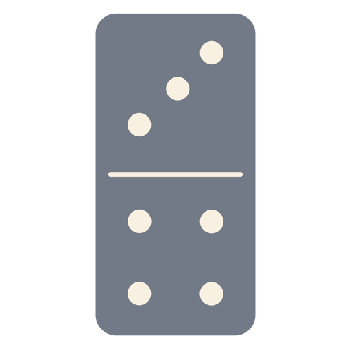 Domino dice three four silhouette Transparent PNG