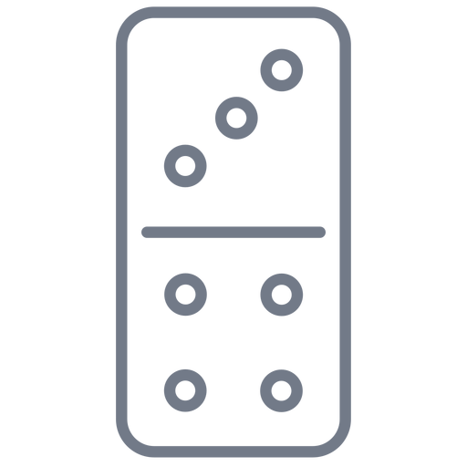 Domino dice three four stroke Transparent PNG