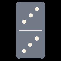 Domino dados tres silueta