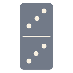 Domino dice three silhouette