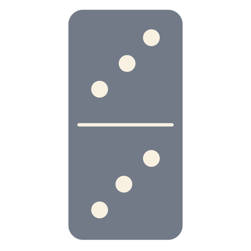 Domino dice three silhouette Transparent PNG