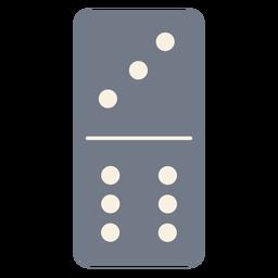 Domino dados tres seis silueta