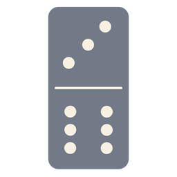 Domino dice three six silhouette
