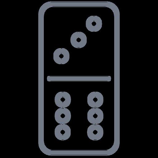 Domino dice three six stroke Transparent PNG
