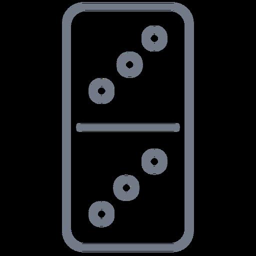 Domino dice three stroke Transparent PNG