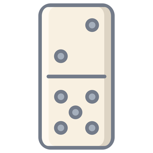 Domino dice two five flat