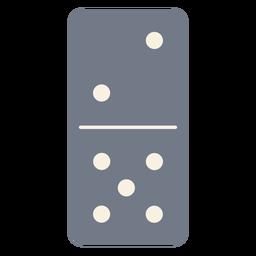 Domino dice two five silhouette