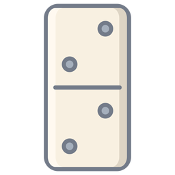 Domino dice two flat