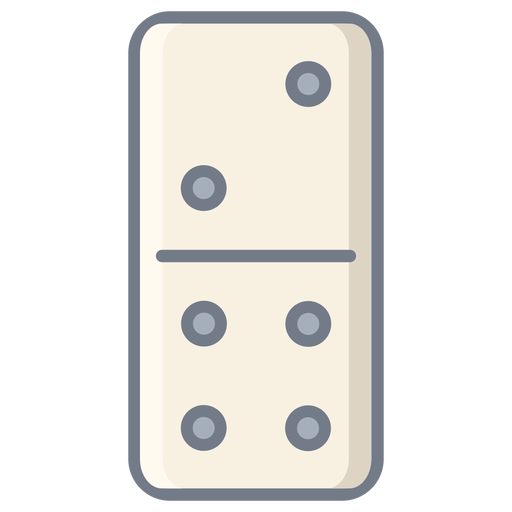 Domino dice two four flat