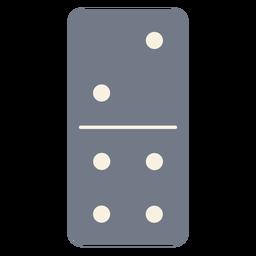 Domino dados dos cuatro siluetas