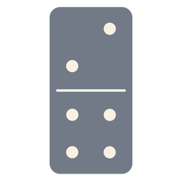 Domino dice two four silhouette