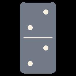 Domino dados dos siluetas