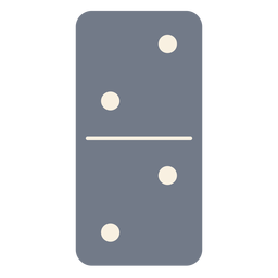 Domino dice two silhouette