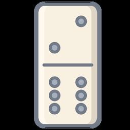 Domino dice two six flat