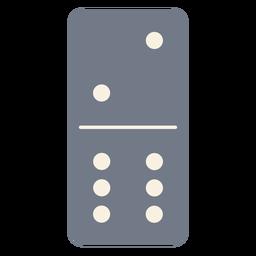 Domino dice dois seis silhueta