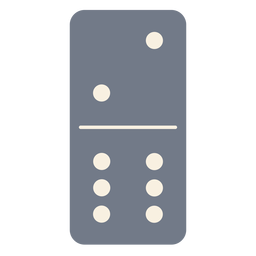 Domino dice two six silhouette