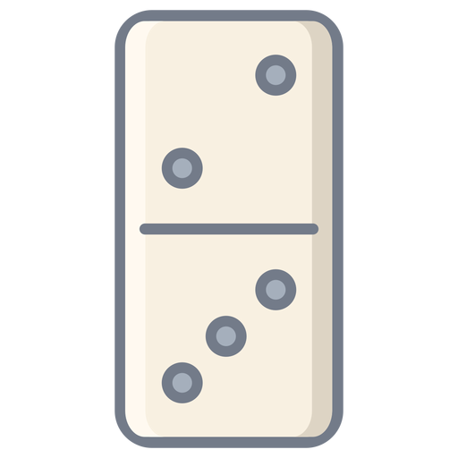 Domino dice two three flat Transparent PNG