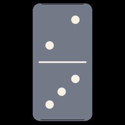 Domino dice dois três silhueta