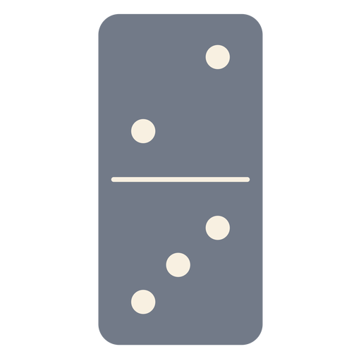 Domino dice two three silhouette Transparent PNG