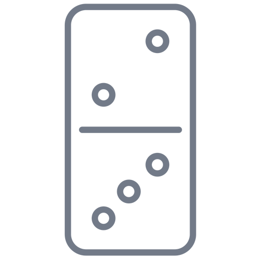 Domino dice two three stroke Transparent PNG