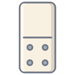 Domino four dice flat
