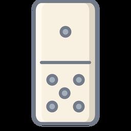 Domino uno cinco dados plana