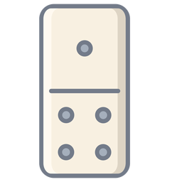 Domino one four dice flat