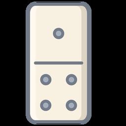 Domino uno cuatro dados plana